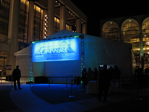 Project Runway tent