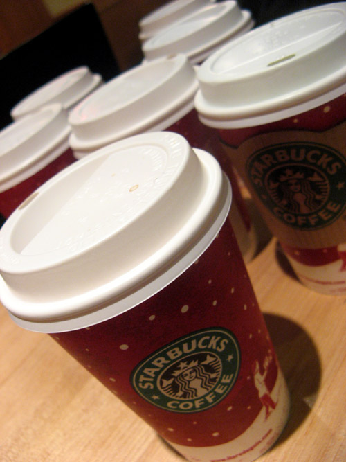 Starbucks cups