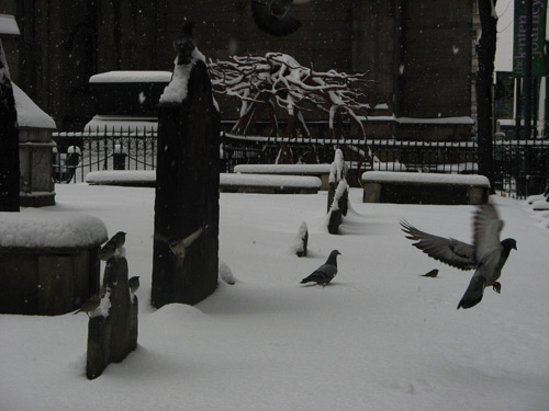 Trinity Church snow